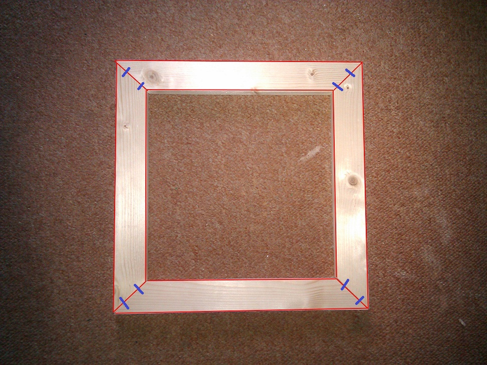 making a picture frame from spare wood and left over